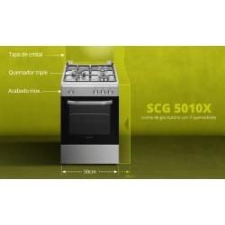 SCHNEIDER SCG 5010X COCINA GAS INOX