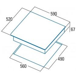 CATA TD6003BK PLACA VITROCERAMICA 3F.