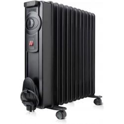 BLACK+DECKER BXRA2300E RADIADOR 2300W 2 niveles, termostato integrado, color negro