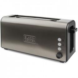 BLACK&DEKER BXTO1000E TOSTADOR Potencia 1000W. Ranura extra larga y extra ancha: 42 x 260 mm,7 niveles de tostado