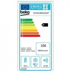BEKO RCNE365E20XP FRIGORIFICO COMBI 184.5 cm, capacidad 321L. Clasificación A +. Color inox.