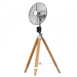 CECOTEC 5287 Ventilador de trípode Forcesilence 1600 Woody Smart
