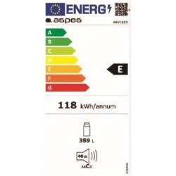 ASPES ARV185D FRIGORÍFICO 185 clasificación energética A++. Capacidad 355 L. Tecnologia No Frost. Color blanco.