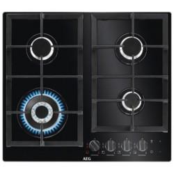 AEG HKB64540NB Encimera de gas de color negro. 4 quemadores.