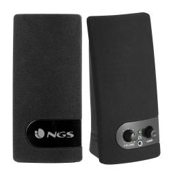 NGS SB150 ALTAVOCES NEGROS 2.0-RMS 2W(1W+W1)-SALIDA AUDIO,ALIMENTACIÓN USB-ON OFF INTERRUPTOR-VOLUMEN