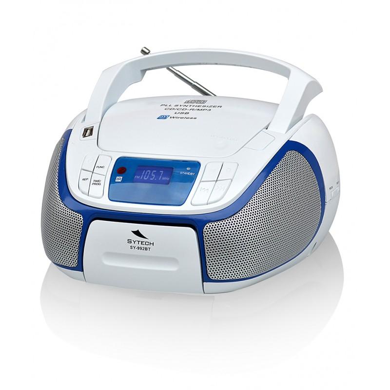 ec55c7382 Sytech sy992btb radio con cd/mp3, blanco barato de outlet